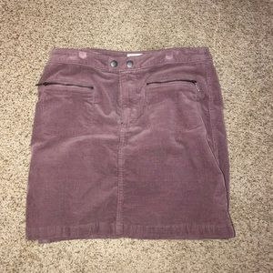 Light purple corduroy skirt